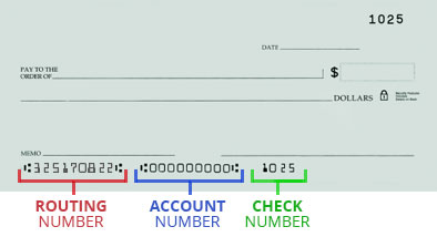 how do i find my bank account number on a check